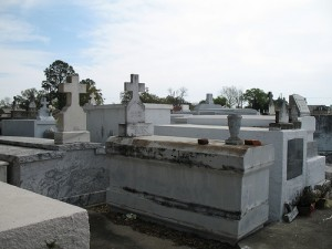 Much of Louisiana is below sea level, so many graves are above ground.